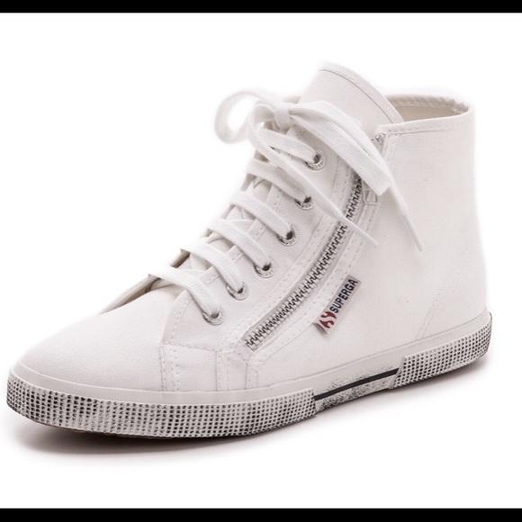Superga Shoes | High Top Zipper